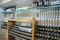Intérieur boutique Aroma Zone