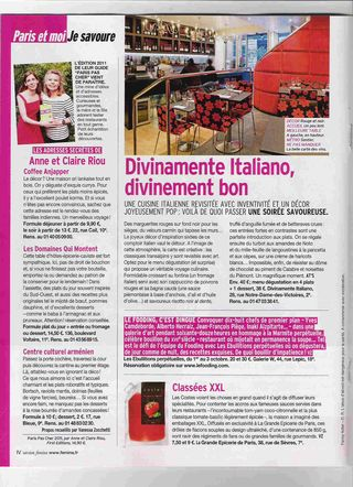 Article Version Femina 26 septembre 2010