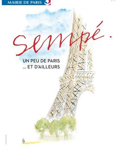 Affiche expo Sempé 2012